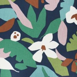 Cotton fabric - Navy blue Ewa x 50cm
