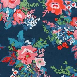 Tissu coton AGF Everlasting Bouquet Muse - bleu x 10cm