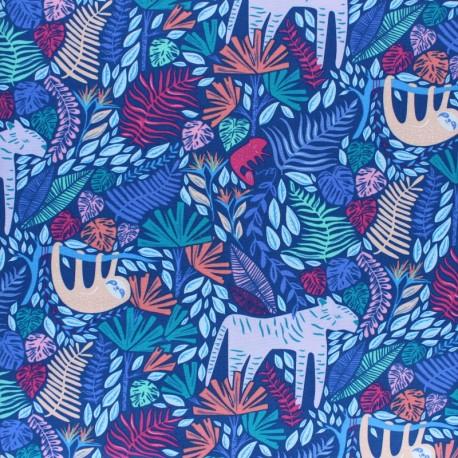 Tissu coton AGF Selva - Junglen Jolly x 10cm