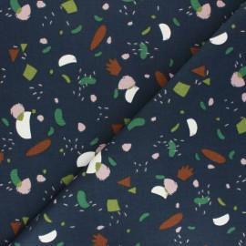 Tissu toile de coton Cutzy - vert foncé x 10cm