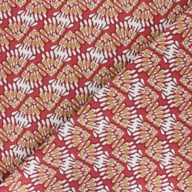 Cotton fabric -Blue Svara x 10cm