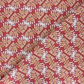 Tissu toile de coton Svara - bleu x 10cm