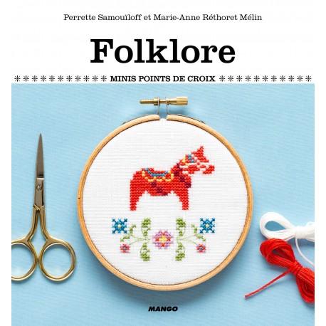 """Livre """"Folklore - Minis points de croix"""""""