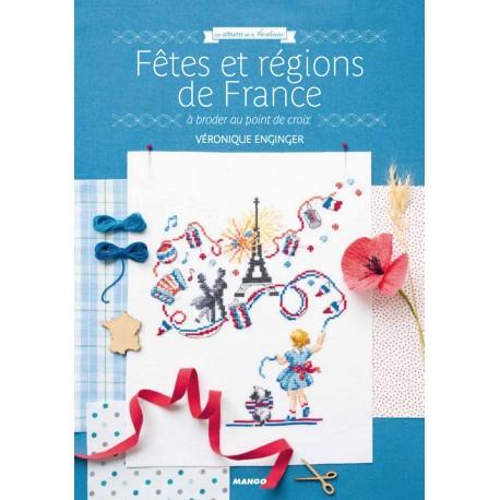 """Livre """"Fêtes et région de France à broder au point de croix"""""""