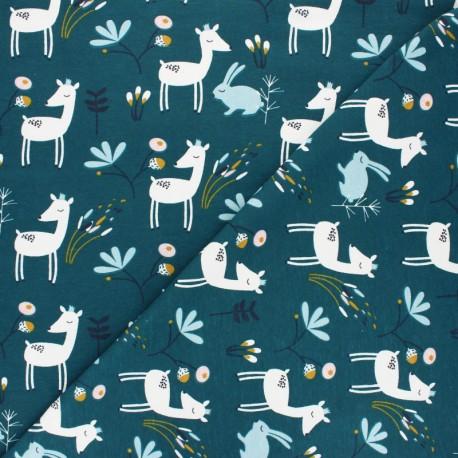 Jersey cotton fabric - Fig Faola x 10cm