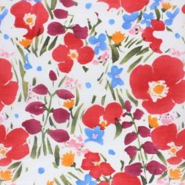Tissu voile de coton Cloud 9 - Pink Poppies - noir x 10 cm
