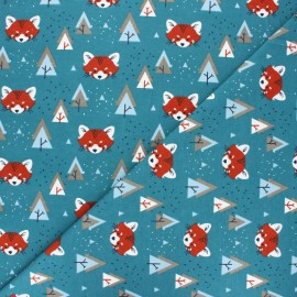 Jersey cotton fabric - Mint Maotey x 10cm