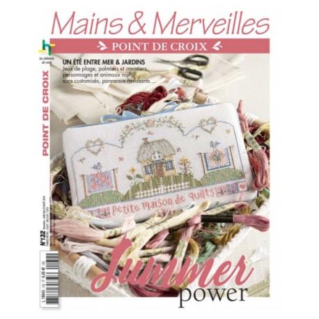 """Magazine """"Mains & Merveilles point de croix"""" N°132"""