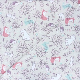 Jersey cotton fabric - Grege Silva  x 10cm