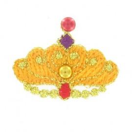 Crown iron-on applique - orange
