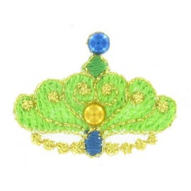 ♥ Crown iron-on applique - green♥