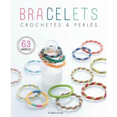 """Livre """"Bracelets crochetés & perlés - 63 modèles"""""""