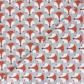 Tissu coton sweat Altajey - Indigo x 10cm