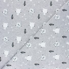 Sweatshirt fabric - White Tiguli x 10cm