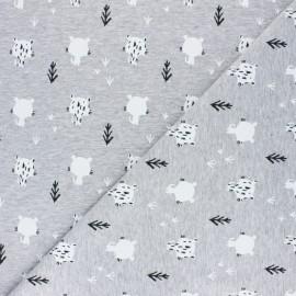 Tissu coton sweat Tiguli - Blanc x 10cm