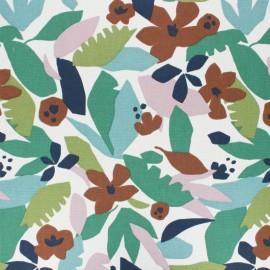 Tissu toile de coton Ewa - bleu marine x 50cm