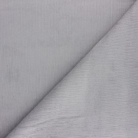 Ribbed velvet fabric Dustin - light grey x 10cm