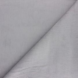 Tissu velours 500 raies Dustin - gris clair x 10cm