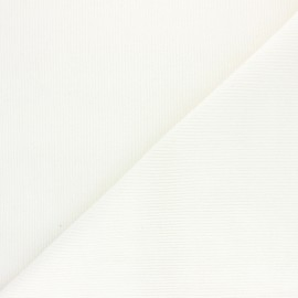Ribbed velvet fabric Dustin - white x 10cm