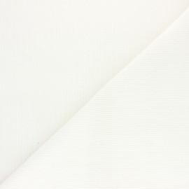 Tissu velours 500 raies élasthanne Dustin - blanc x 10cm