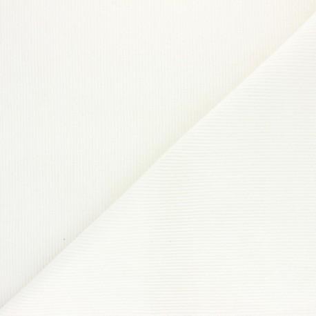 Ribbed velvet fabric Dustin - white x 10cm