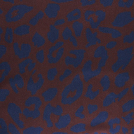 Twill viscose fabric - Brick red Minileo x 10 cm