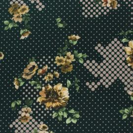 Tissu crêpe élasthanne Coria - vert foncé x 10cm