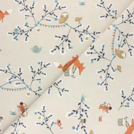 Tissu coton cretonne Padwan - Bleu ciel x 10cm