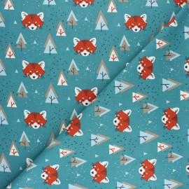 Tissu coton cretonne Watree - Beige x 10cm
