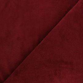 Tissu Micro-éponge Bambou - Grenat x 10cm