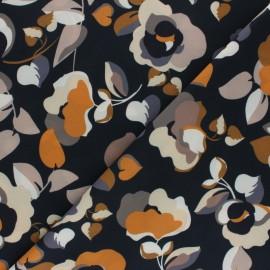 Elastane Crepe fabric - Dark green Coria x 10cm