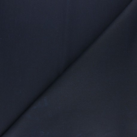 Waxed Cotton Fabric - Navy blue Hunter x 10cm