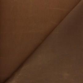 Tissu Coton huilé Hunter - Marron x 10cm