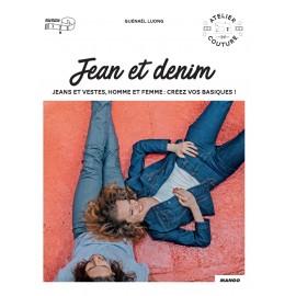 """Livre """"Jean et denim - 4 coupes de jean et 1 veste mixte"""""""
