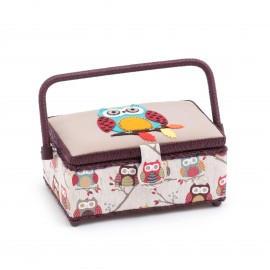 Medium Size Sewing Box - Hibou