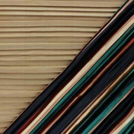 Tissu velours élasthanne plissé Léonie - beige x10cm