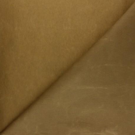 Waxed Cotton Fabric - Havana brown Hunter x 10cm