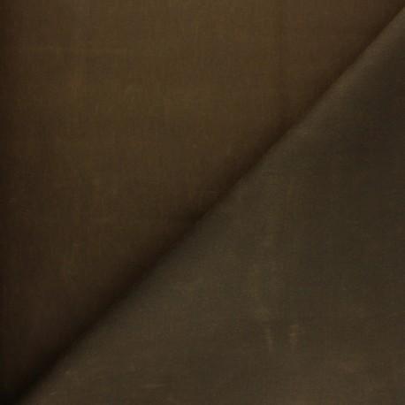 Waxed Cotton Fabric - Khaki green Hunter x 10cm