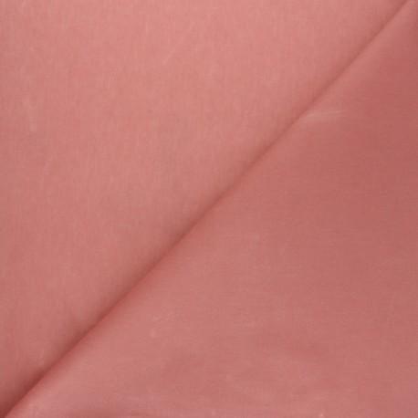 Tissu Coton huilé Hunter - Rose x 10cm