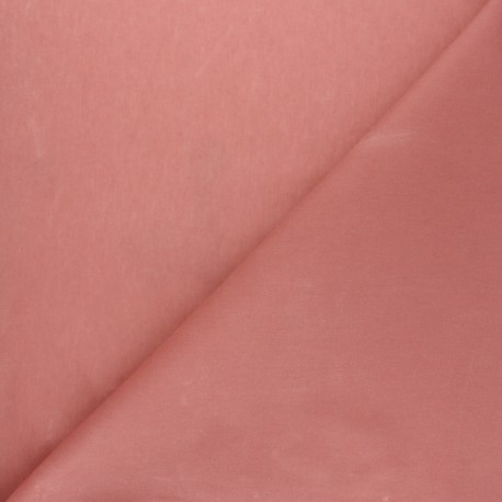 Waxed Cotton Fabric - Pink Hunter x 10cm