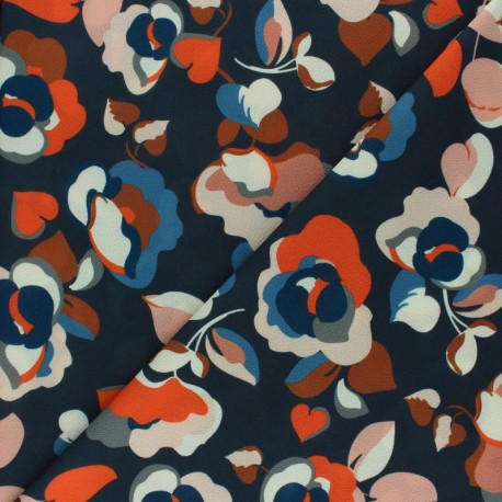 Elastane Crepe fabric - Ochre Rita x 10cm