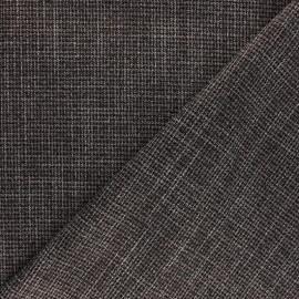 Tissu polyviscose Pied de Poule élasthanne - noir x 10cm