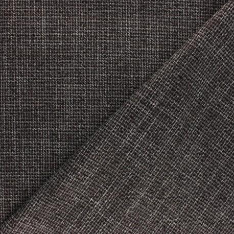 Scottish tartan elastane fabric - beige Ramsay x 10cm