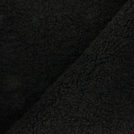 Tissu Fourrure mouton Petit Prince - noir x 10cm