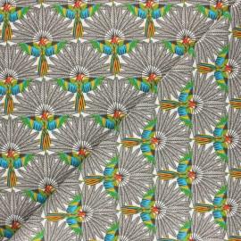 Cretonne cotton fabric - blue Trinidad x 10cm