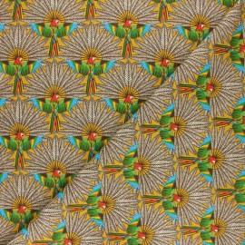 Cretonne cotton fabric - yellow Trinidad x 10cm