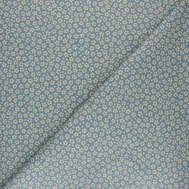 Cretonne cotton fabric - denim blue Myosotis x 10cm