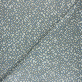 Tissu coton cretonne Myosotis - denim x 10cm