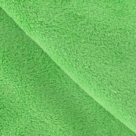 Tissu Doudou uni anis x10cm