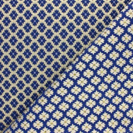 Lurex Jacquard fabric - Blue Versailles x 10cm